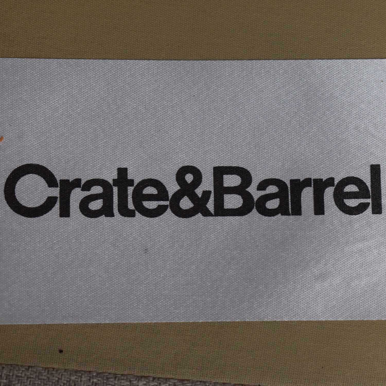 Crate & Barrel Crate & Barrel Dryden Beige Two Cushion Sofa used