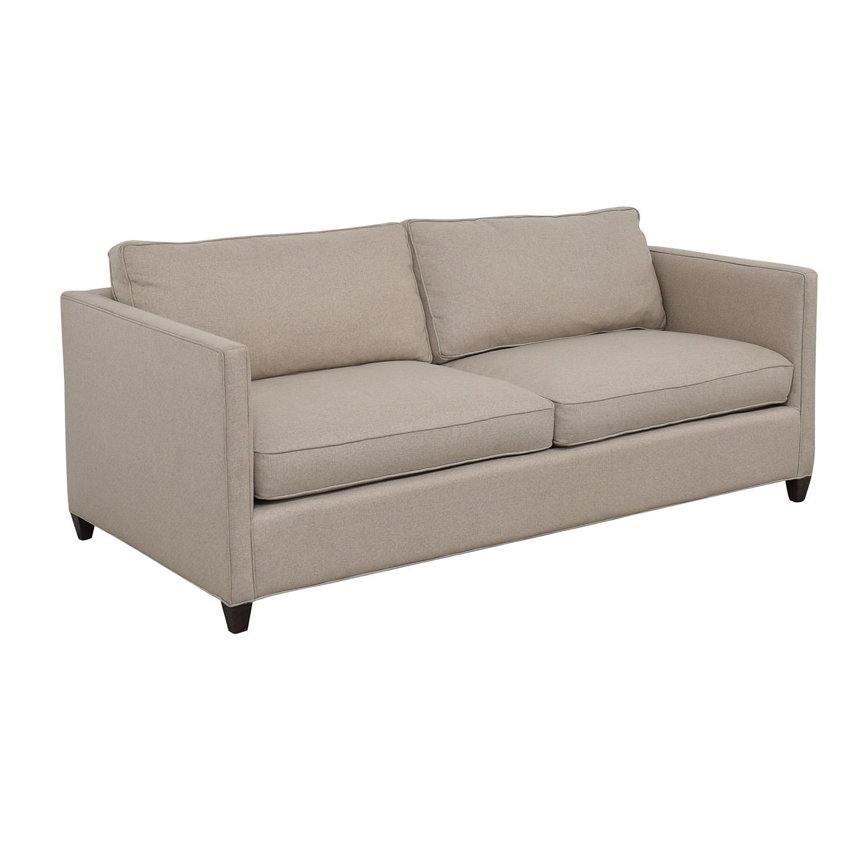 Crate & Barrel Dryden Beige Two Cushion Sofa / Sofas