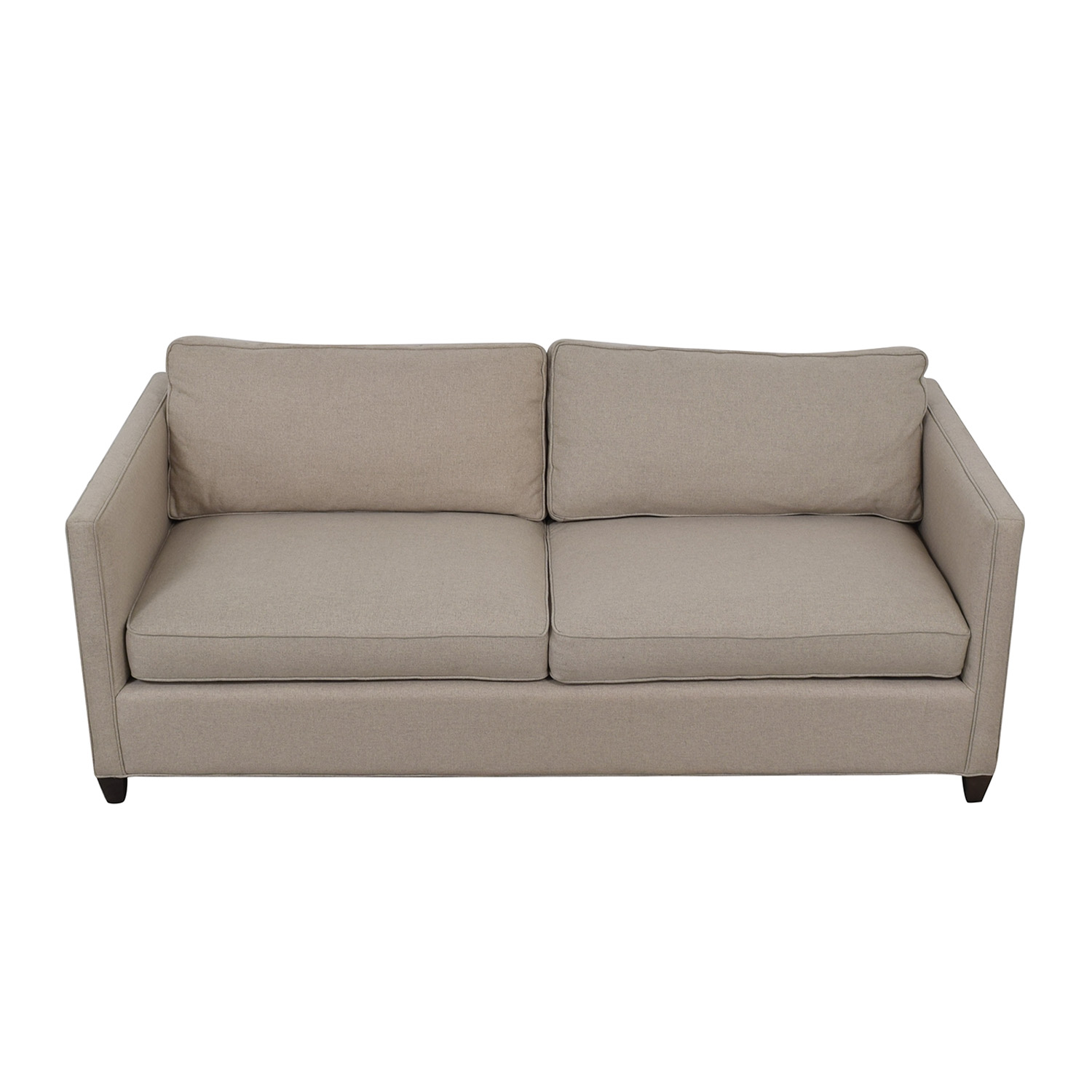 Crate & Barrel Dryden Beige Two Cushion Sofa sale