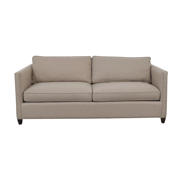 Crate & Barrel Crate & Barrel Dryden Beige Two Cushion Sofa Classic Sofas