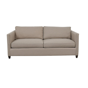 Crate & Barrel Crate & Barrel Dryden Beige Two Cushion Sofa for sale