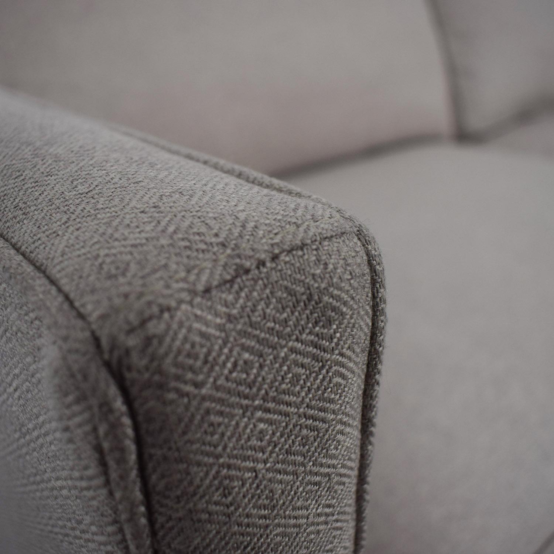 shop Crate & Barrel Dryden Beige Two Cushion Sofa Crate & Barrel
