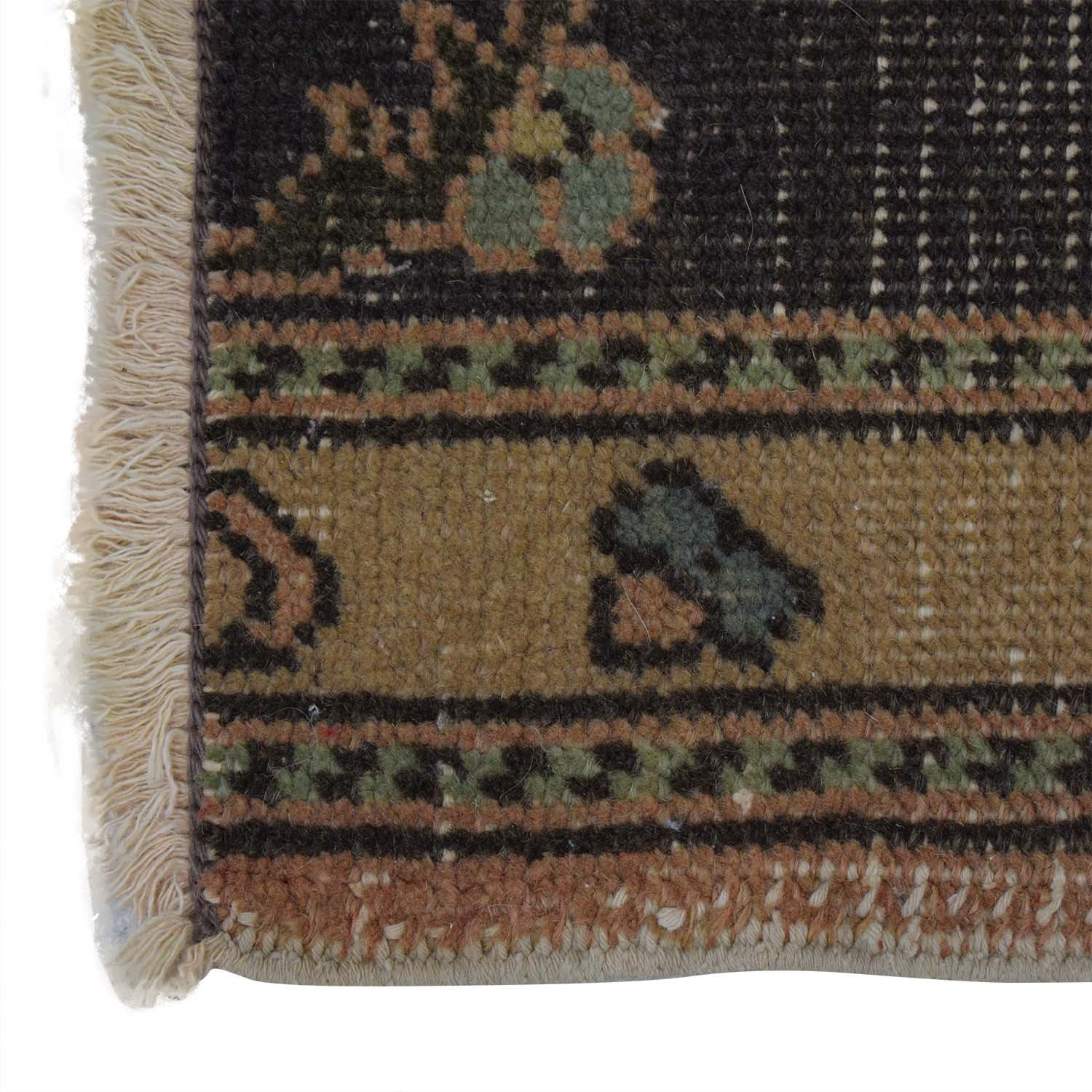 Vintage Turkish Multi-Colored Wool Rug / Decor