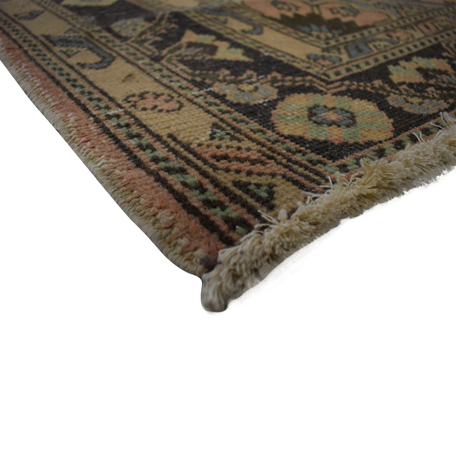 buy Vintage Turkish Multi-Colored Wool Rug  Rugs