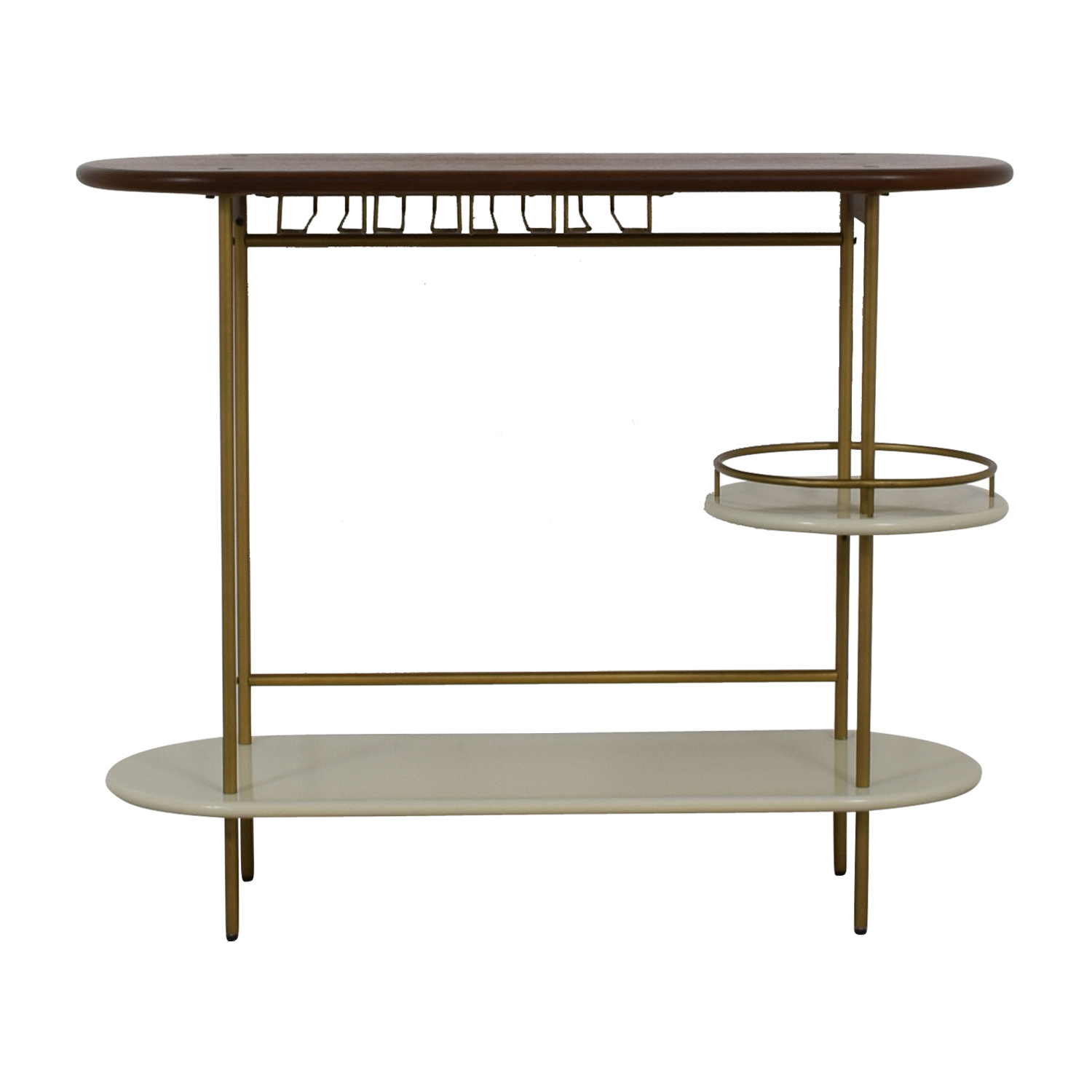 73 Off West Elm West Elm Tiered Bar Console Tables