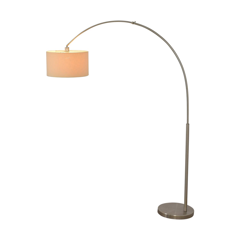 buy CB2 Big Dipper Arc Brushed Nickel Floor Lamp CB2 Decor