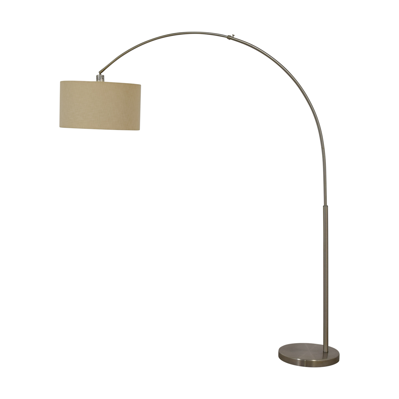 65 Off Cb2 Cb2 Big Dipper Arc Brushed Nickel Floor Lamp