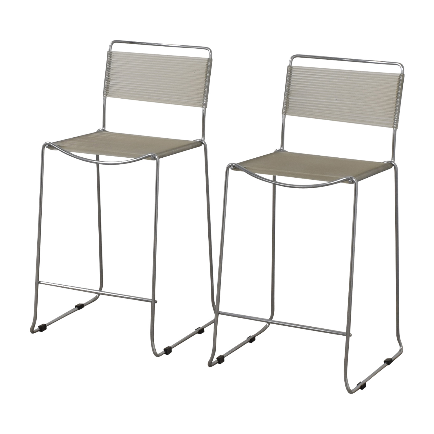 White and Chrome Stools sale