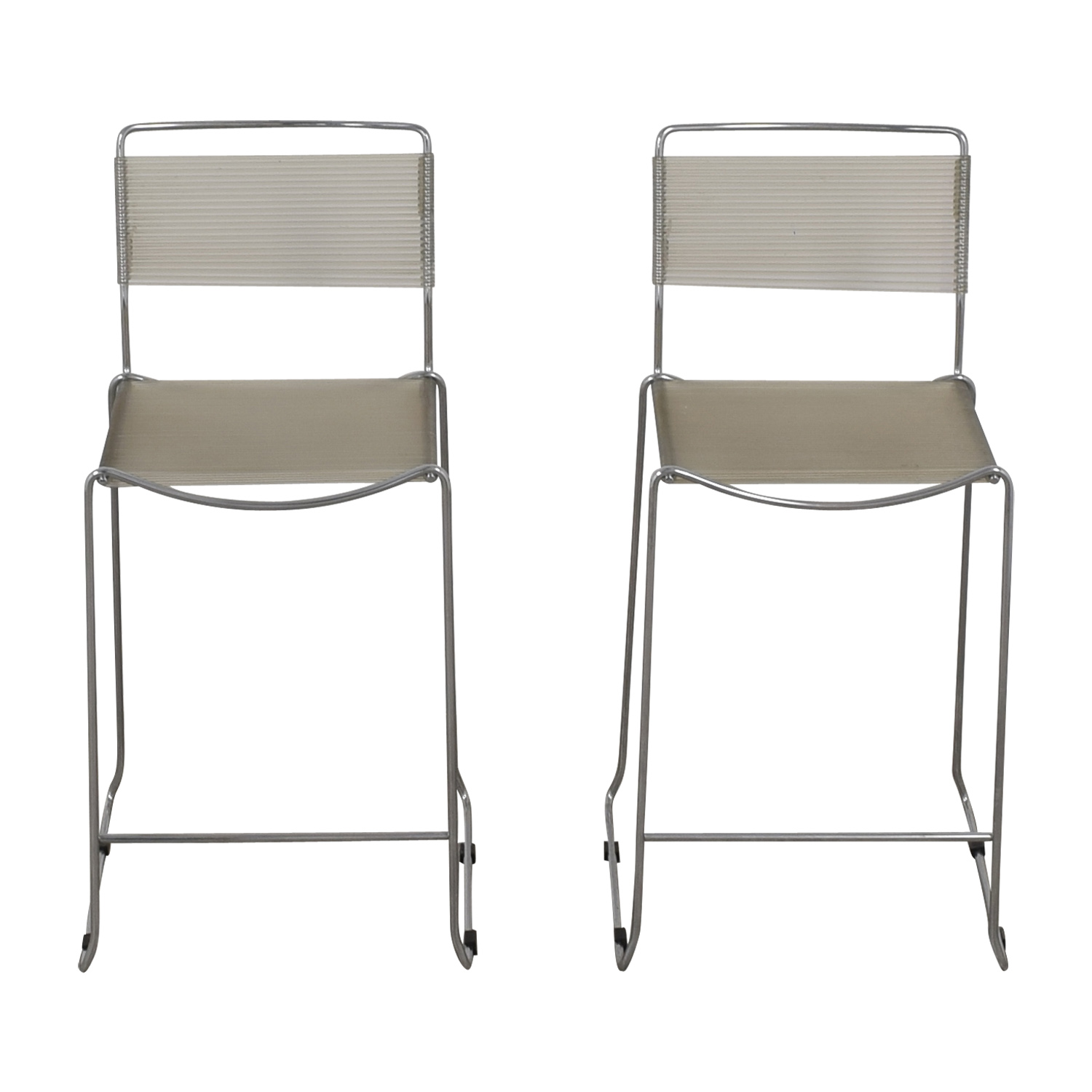 White and Chrome Stools price