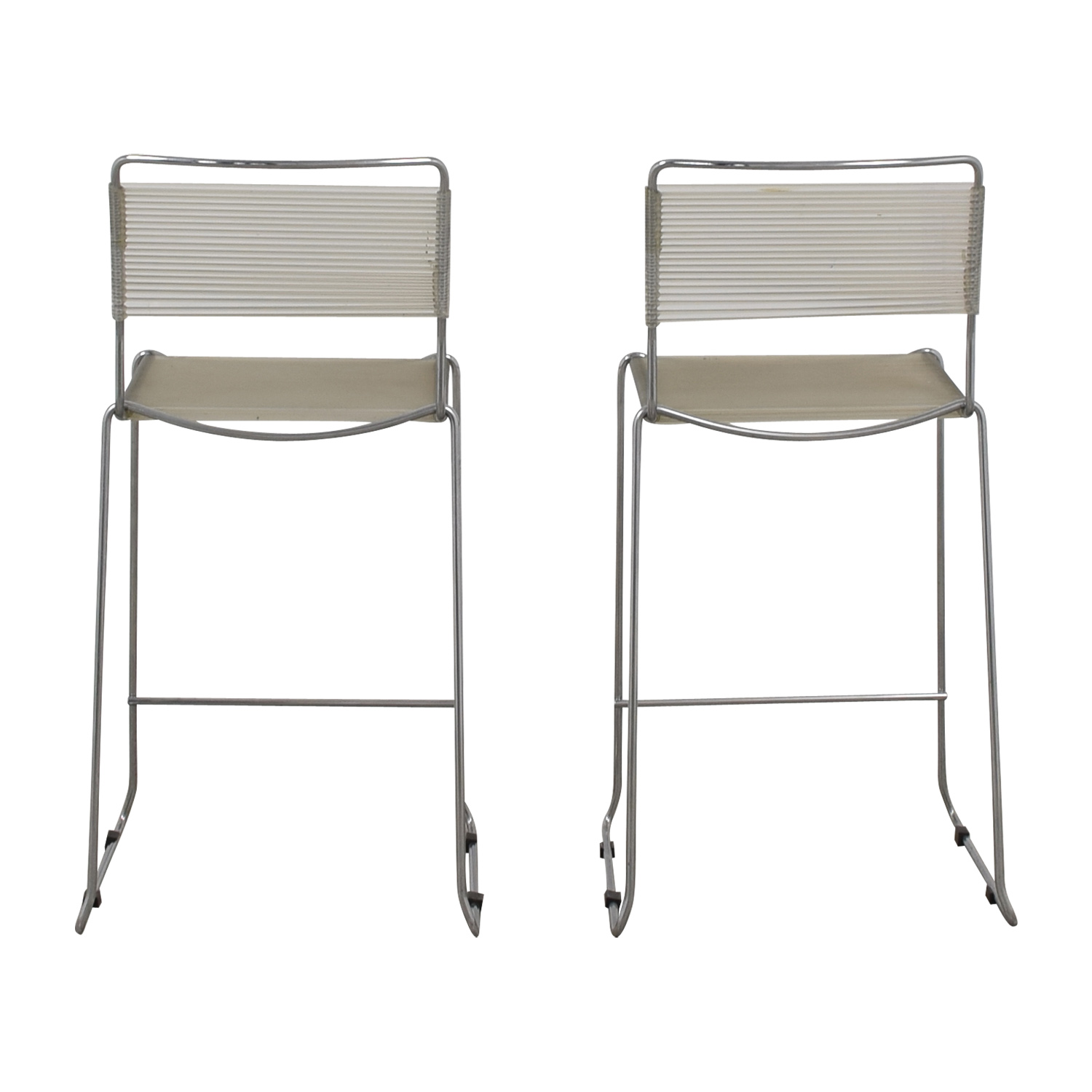 White and Chrome Stools Chairs