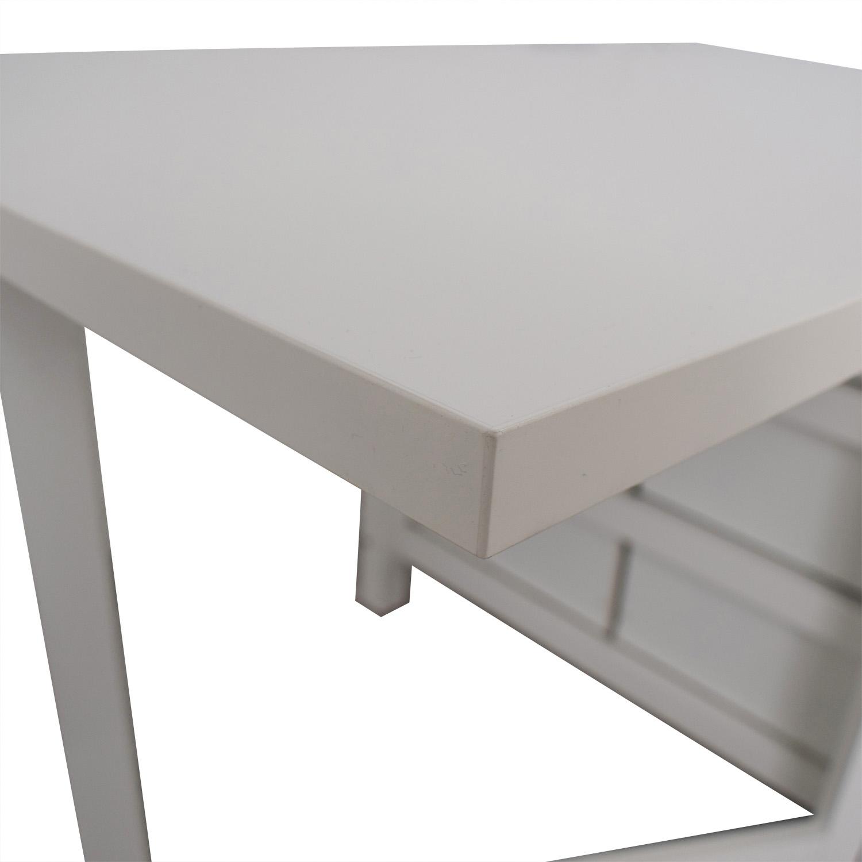 IKEA Norden Gatleg White Extendable Folding Three-Drawer Table / Dinner Tables