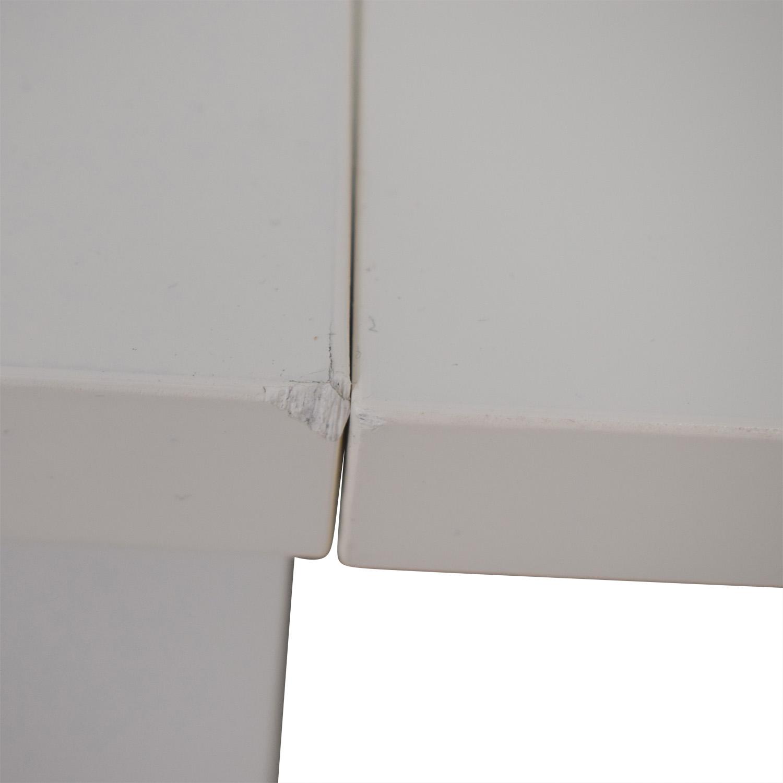 buy IKEA Norden Gatleg White Extendable Folding Three-Drawer Table IKEA Dinner Tables