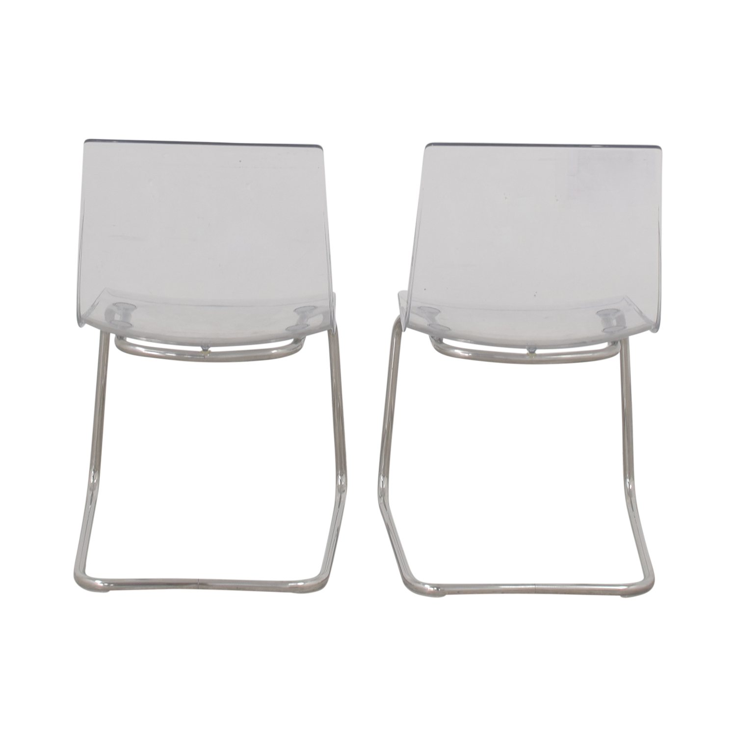 IKEA IKEA Tobias Chrome and Lucite Chairs coupon