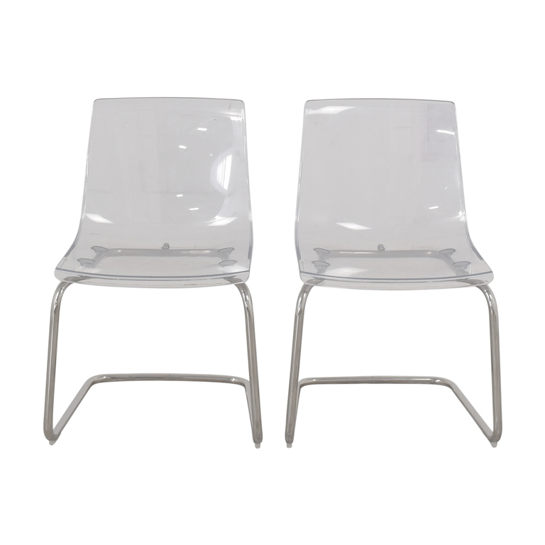 buy IKEA Tobias Chrome and Lucite Chairs IKEA Chairs