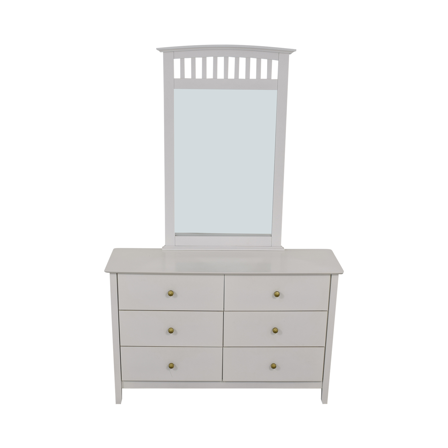Bob's Discount Furniture Bob's Discount Furniture White Six-Drawer Dresser with Mirror nyc