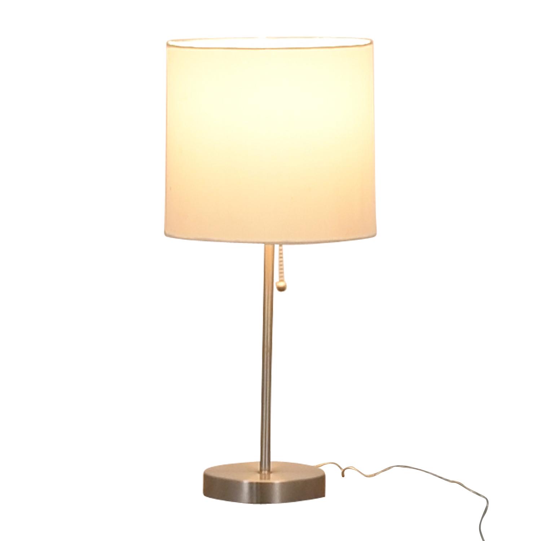 Chrome Metal Table Lamp on sale