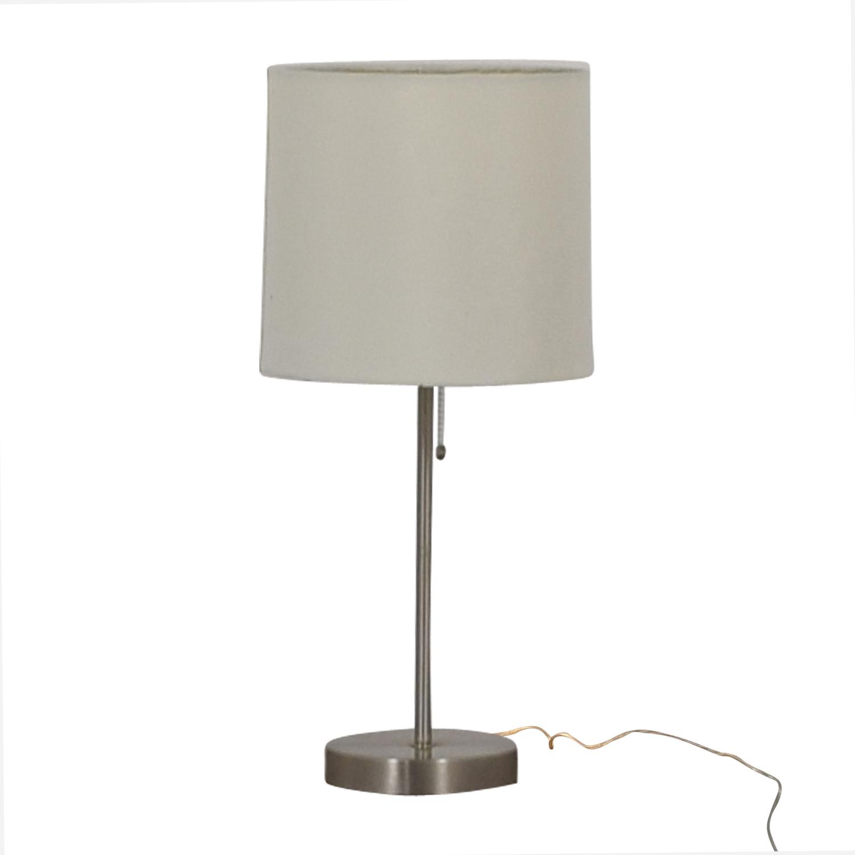 buy Chrome Metal Table Lamp  Decor