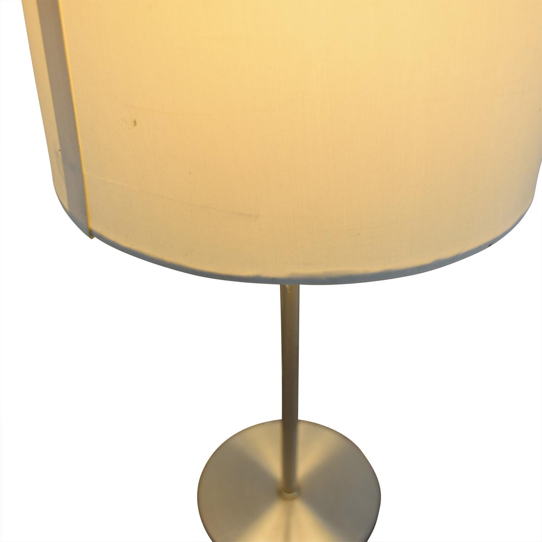 Chrome Metal Table Lamp used