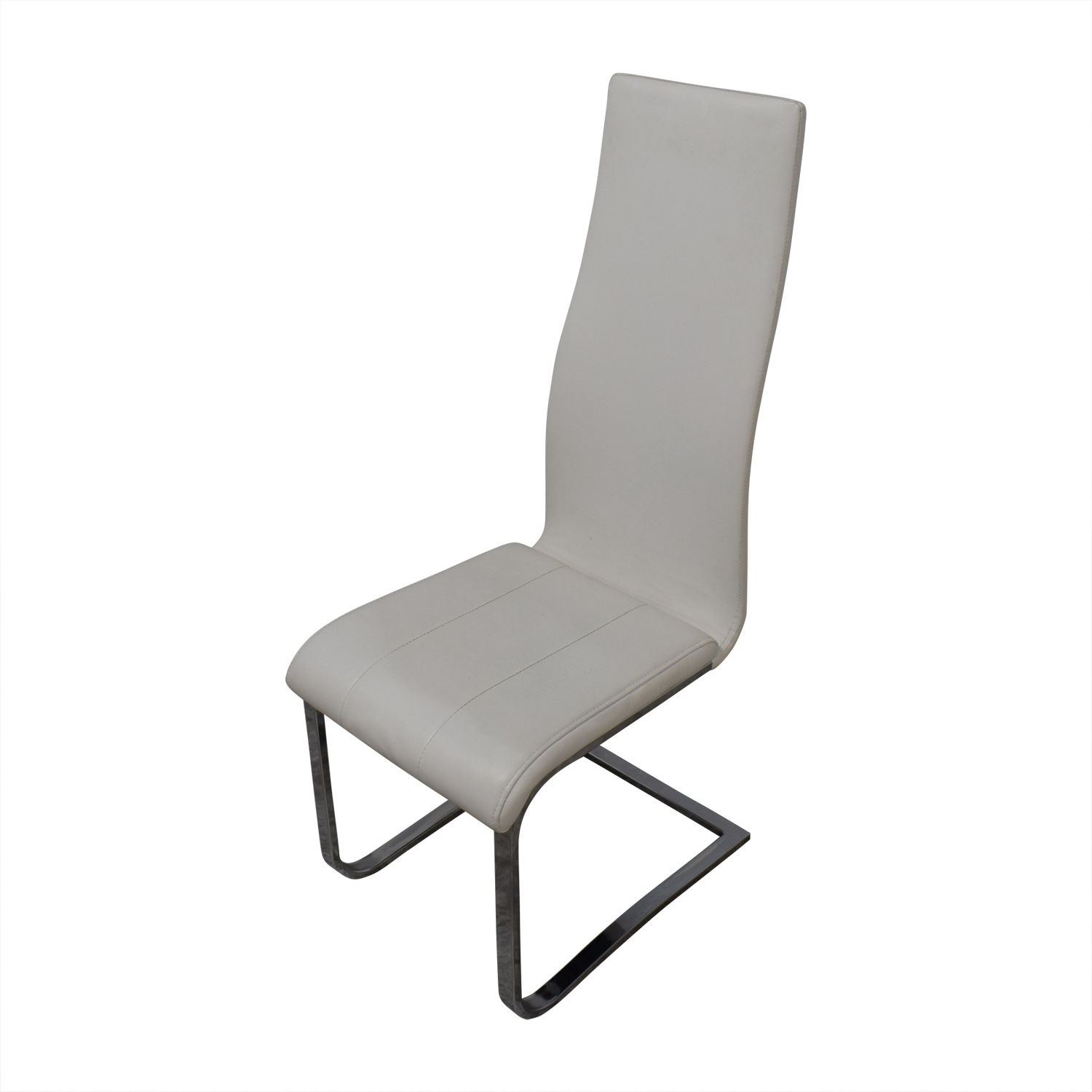 Coaster Fine Furniture Coaster Modern White Leather Dinning Chairs second hand