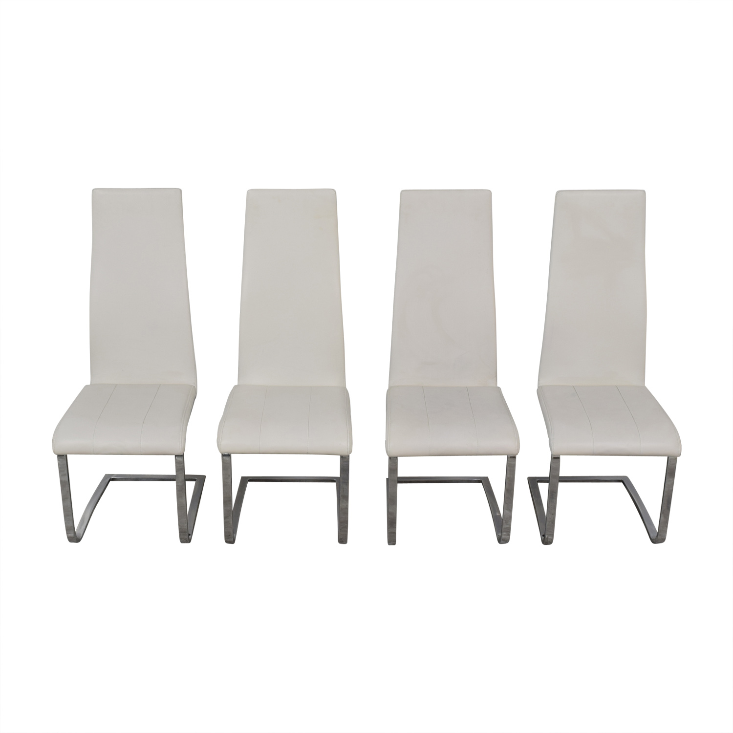 buy Coaster Modern White Leather Dinning Chairs Coaster Dining Chairs