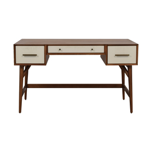 West Elm West Elm Wood and White Mid-Century Desk Three-Drawer Desk price