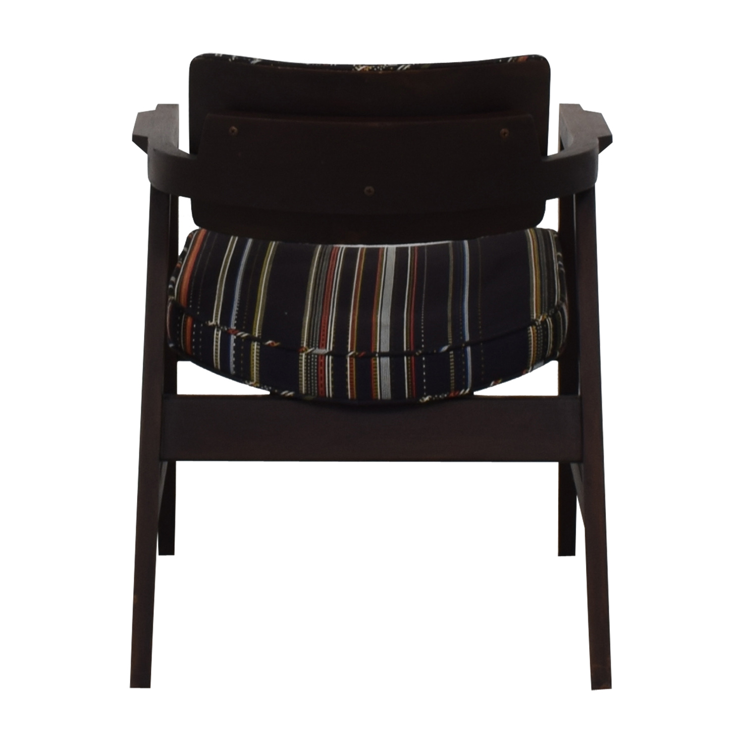 buy Paul Smith Blue Striped Accent Chair Paul Smith
