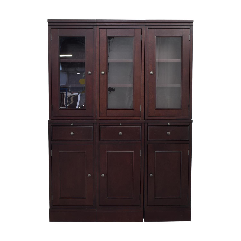 Crate & Barrel Crate & Barrel McAllister Modular Buffet Cabinet and Hutch price