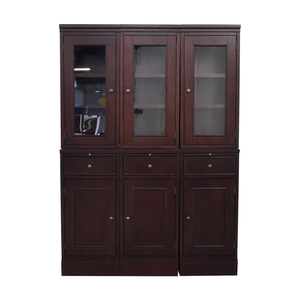 Crate & Barrel Crate & Barrel McAllister Modular Buffet Cabinet and Hutch nyc