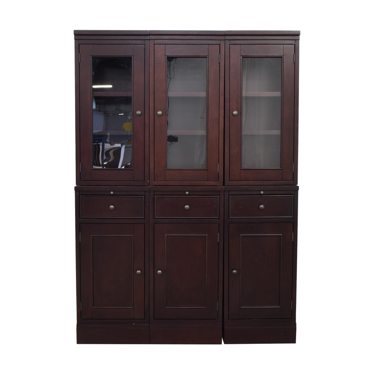 shop Crate & Barrel McAllister Modular Buffet Cabinet and Hutch Crate & Barrel