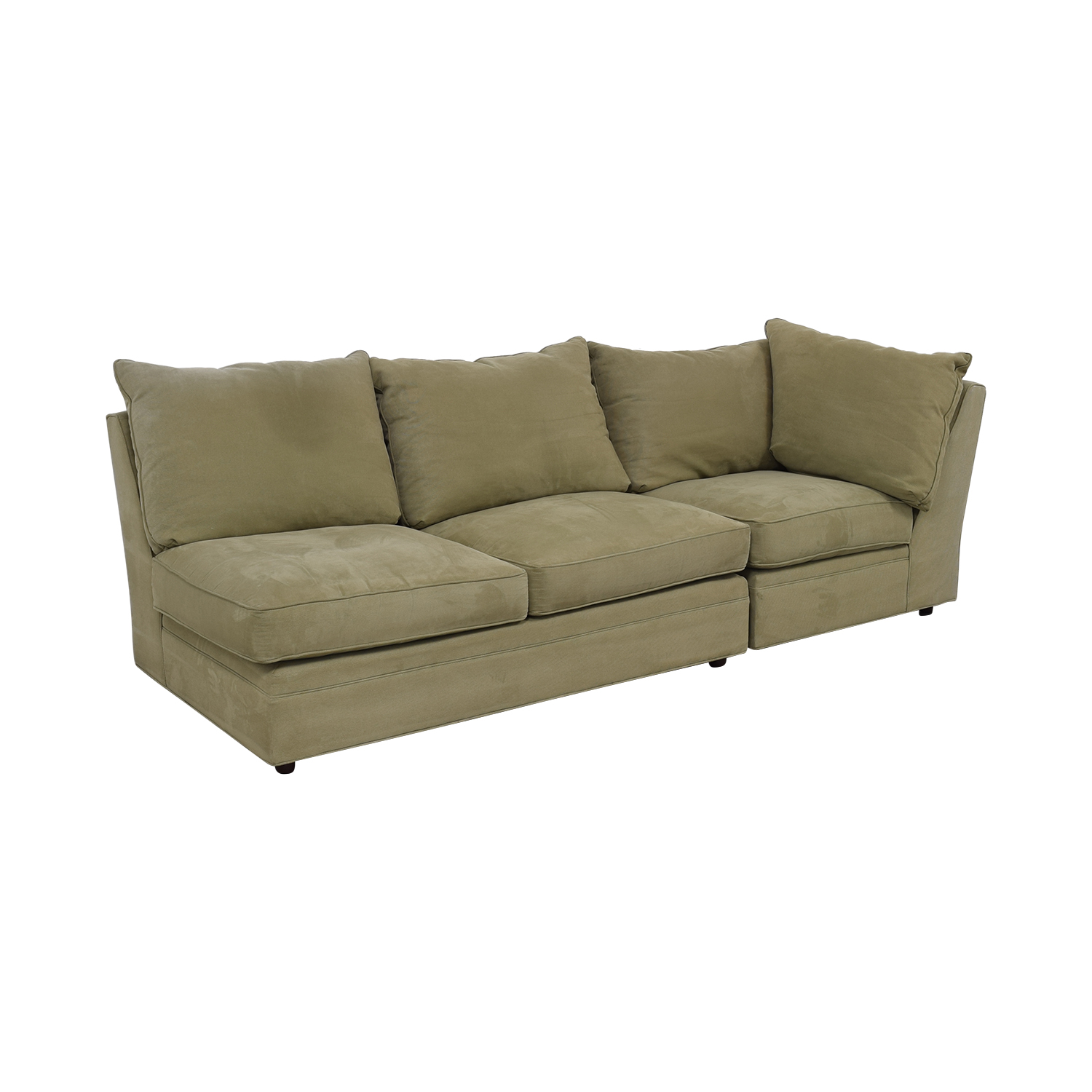 Macy's Macy's Beige Right Facing Arm Two-Piece Sofa used
