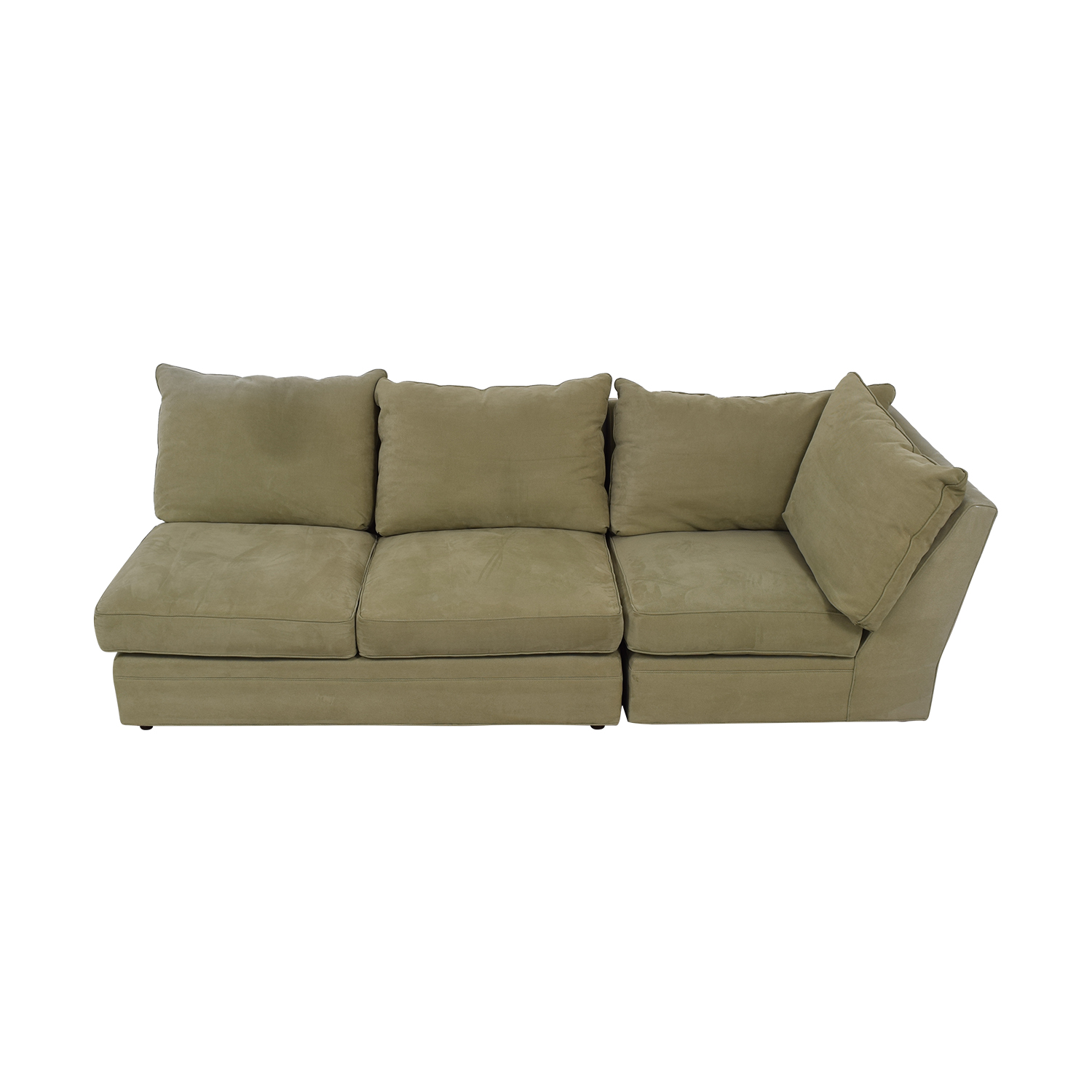 Macy's Macy's Beige Right Facing Arm Two-Piece Sofa discount