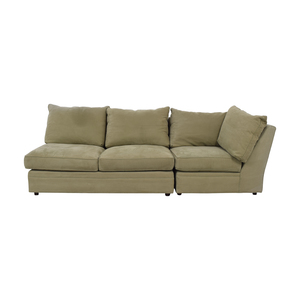 Macy's Macy's Beige Right Facing Arm Two-Piece Sofa Sofas