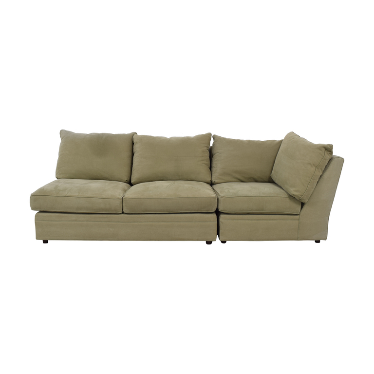 Macy's Macy's Beige Right Facing Arm Two-Piece Sofa nyc