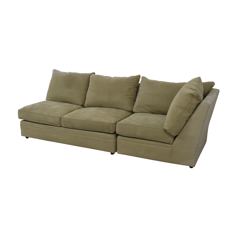 Macy's Macy's Beige Right Facing Arm Two-Piece Sofa beige