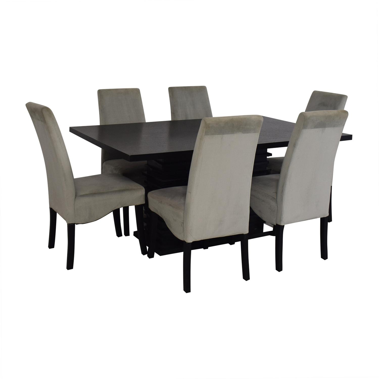 82% OFF   Coaster Fine Furniture Coaster Furniture Stanton Gray Dining Room  Set / Tables