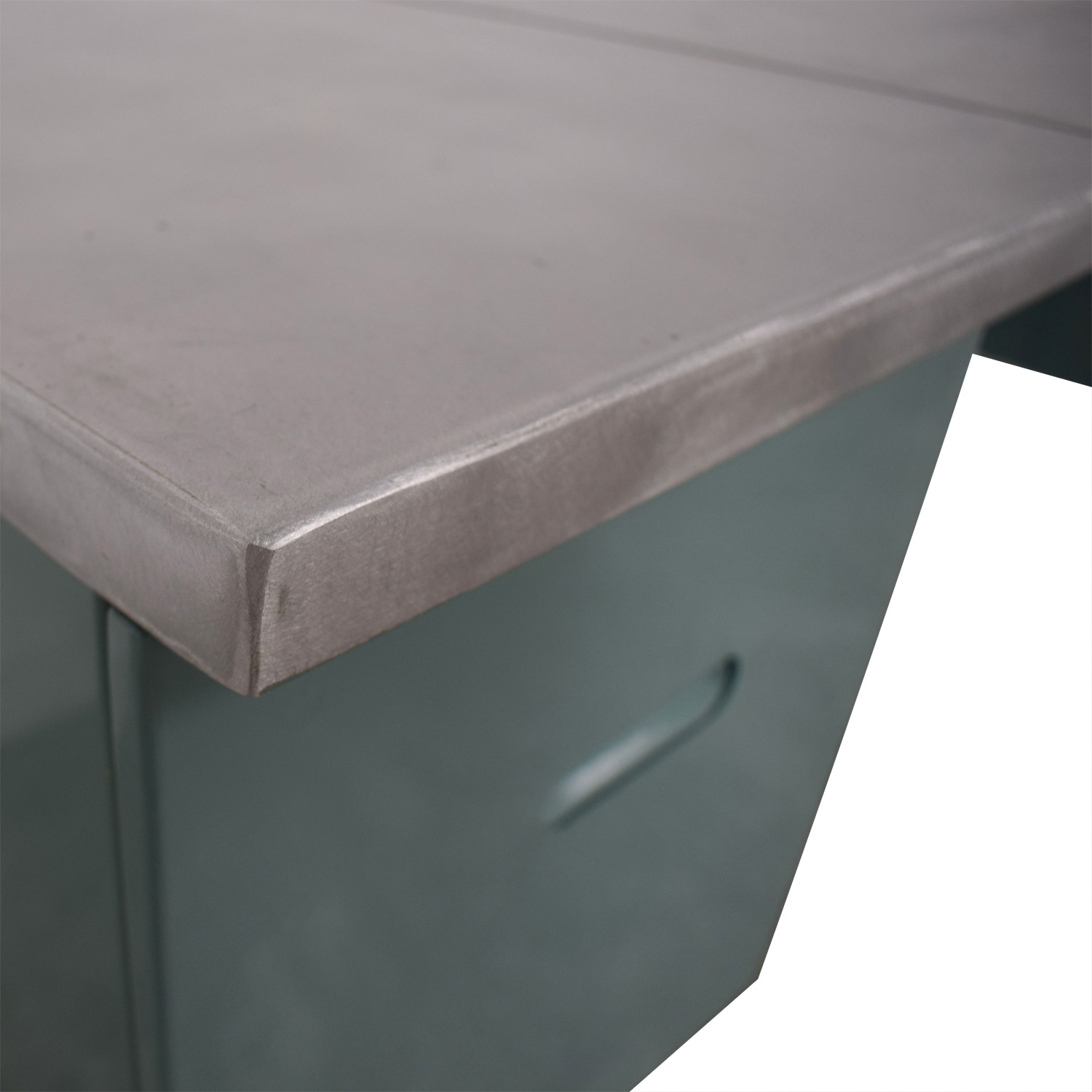 Vintage Steel and Mint Green Collapsible Military Nurses Desk Tables