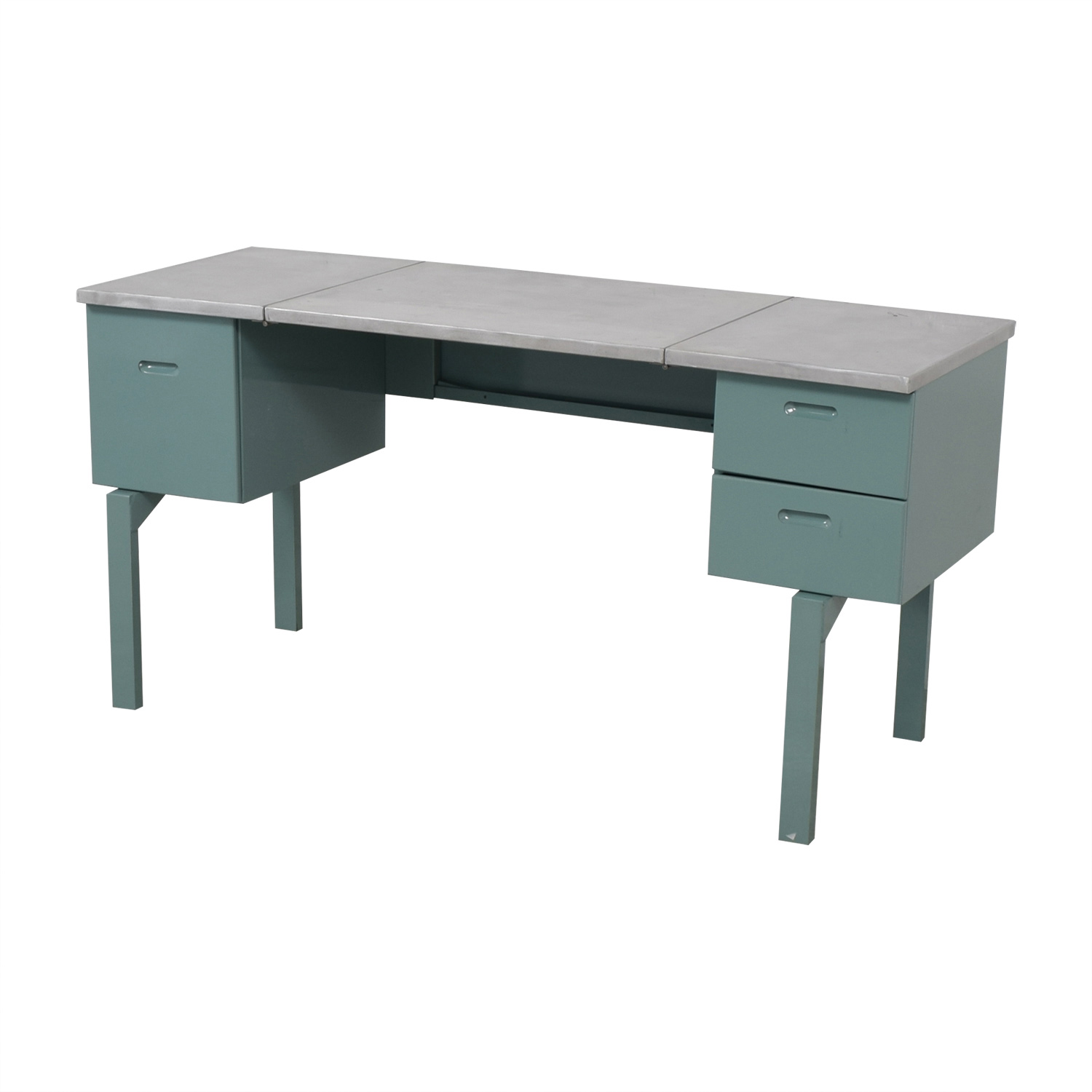 buy Vintage Steel and Mint Green Collapsible Military Nurses Desk