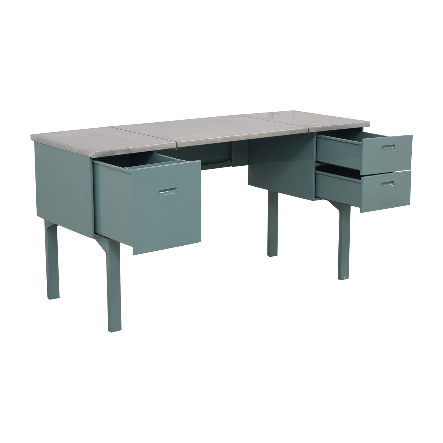Vintage Steel and Mint Green Collapsible Military Nurses Desk sale