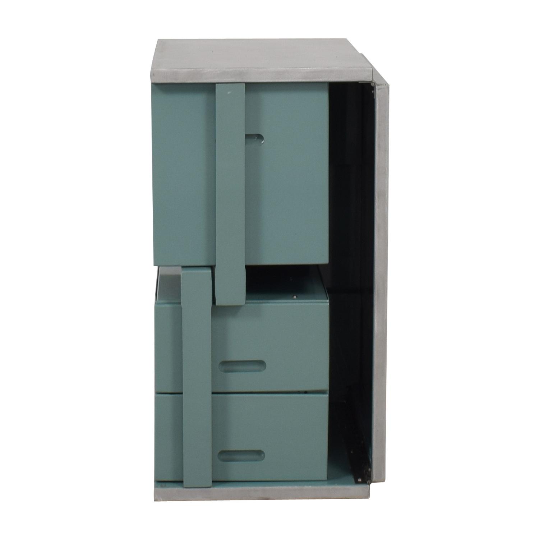 shop Vintage Steel and Mint Green Collapsible Military Nurses Desk  Home Office Desks