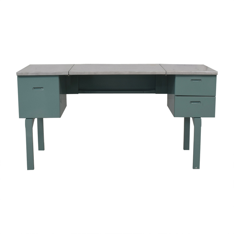 Vintage Steel and Mint Green Collapsible Military Nurses Desk for sale