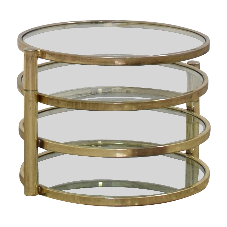 buy Milo Baughman Mid Century Milo Baughman Style Brass Swivel Coffee Table online