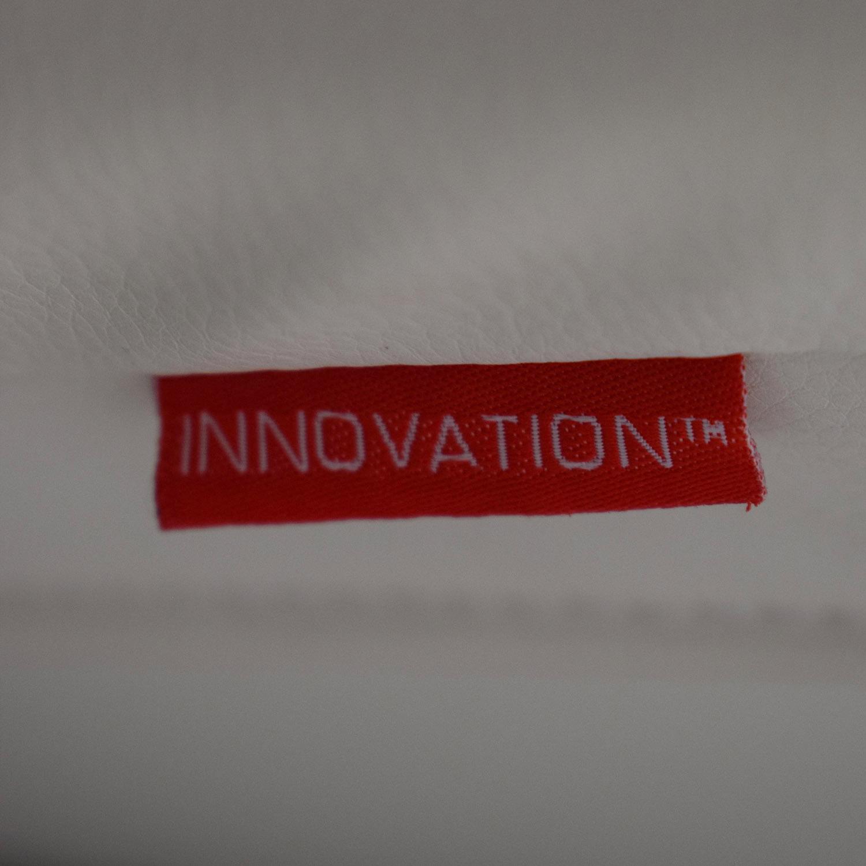 shop Innovation Living Innovation White Splitback Stainless Steel Convertible Sofa online