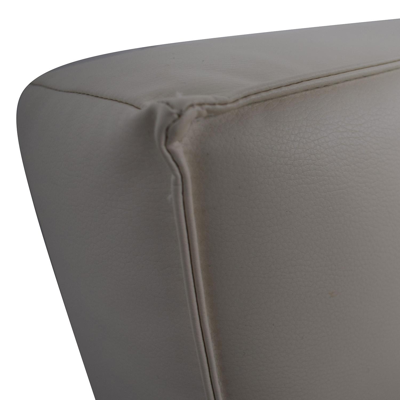 Innovation Innovation White Splitback Stainless Steel Convertible Sofa nyc