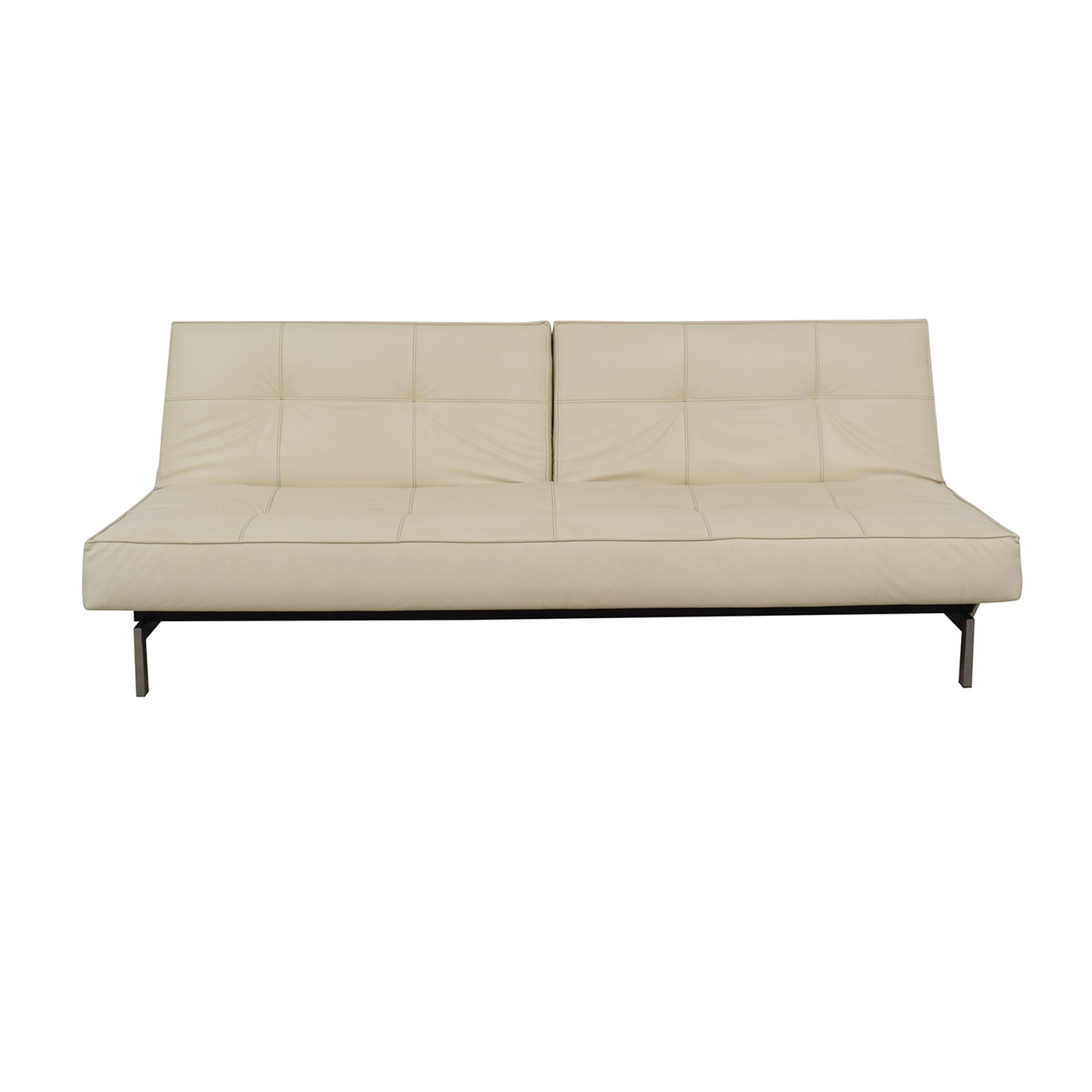 87% OFF - Innovation Living Innovation White Splitback Stainless Steel  Convertible Sofa / Sofas