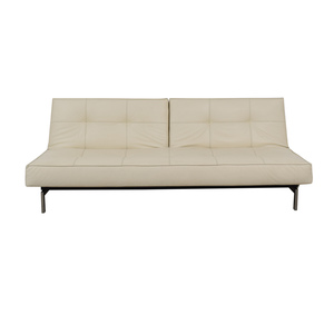 buy Innovation Living Innovation White Splitback Stainless Steel Convertible Sofa online