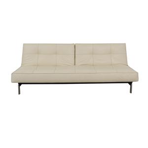 Innovation Innovation White Splitback Stainless Steel Convertible Sofa used