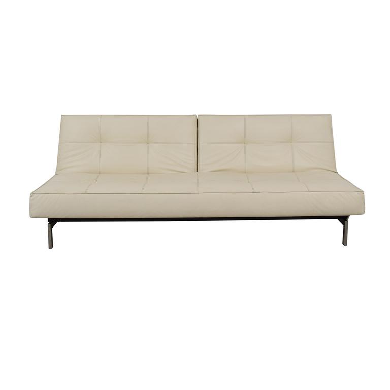 Innovation Innovation White Splitback Stainless Steel Convertible Sofa price