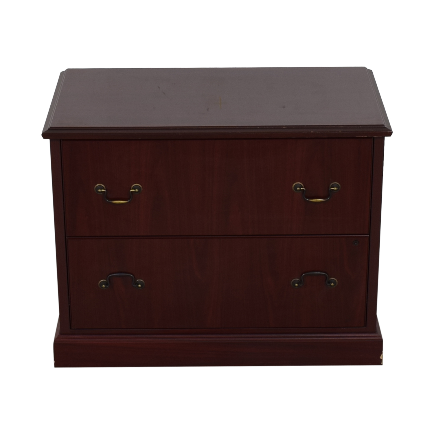 HON HON Two-Drawer File Cabinet burgundy