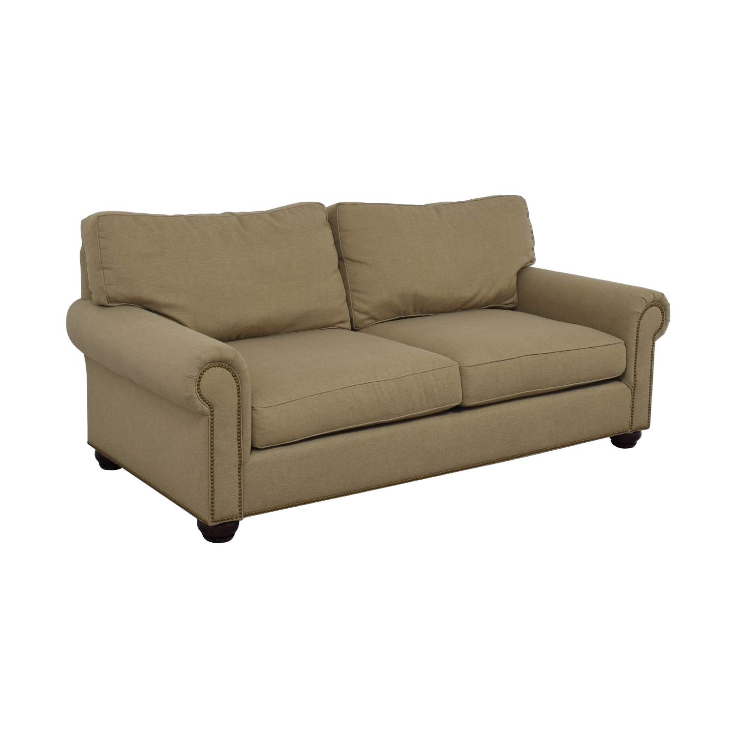 buy Pottery Barn Pottery Barn Webster Beige Two-Cushion Couch online