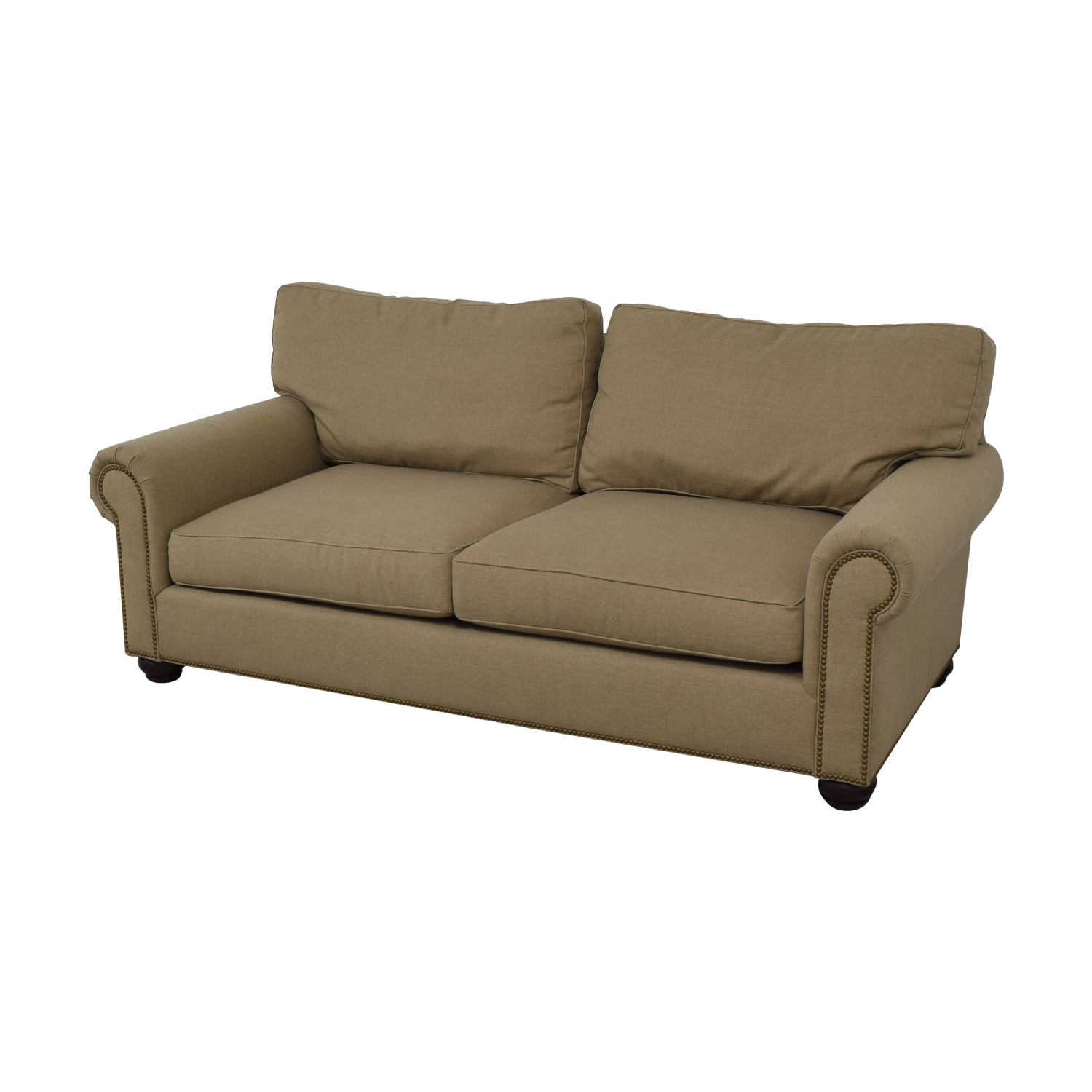 Pottery Barn Webster Beige Two-Cushion Couch Pottery Barn